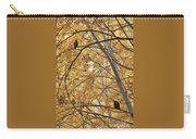 Two Owls In Autumn Tree Carry-all Pouch