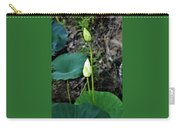 Two White Lotus Flower Buds Carry-all Pouch