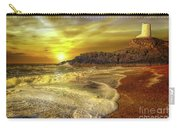 Twr Mawr Lighthouse Sunset Carry-all Pouch by Adrian Evans