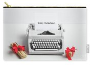 Typewriter With Merry Christmas Text And Gifts Carry-all Pouch