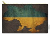 Ukraine Country Flag Map Carry-all Pouch