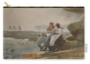 Under The Cliff, Cullercoats , 1881 Carry-all Pouch
