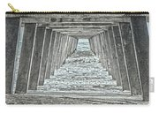 Under The Tybee Island Pier Carry-all Pouch by Judy Hall-Folde