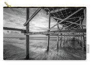 Uner The Pier In Black And White Carry-all Pouch