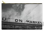Union Market The Original Sign Washington Dc Carry-all Pouch by Edward Fielding