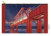 Union Railroad Bridge - Riverwalk Carry-all Pouch by Clint Hansen