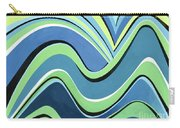 Untitled  Abstract Blue And Green Carry-all Pouch