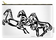 Untitled  Three Horses Carry-all Pouch