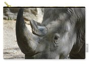 Up Close Look At The Face Of A Rhinoceros Carry-all Pouch