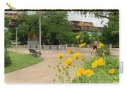 Urban Pathways Butler Park At Austin Hike And Bike Trail With Train Carry-all Pouch