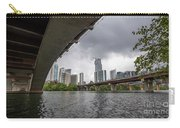 Urban Skyline Of Austin Buildings From Under Bridge With Stormy  Carry-all Pouch