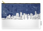 Vancouver Skyline Map Blue Carry-all Pouch