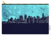 Vancouver Skyline Map Turquoise Carry-all Pouch