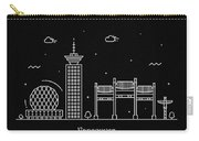 Vancouver Skyline Travel Poster Carry-all Pouch