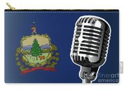 Vermont Flag And Microphone Carry-all Pouch