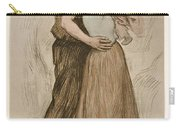 Victor Emile Prouve  French  1858   1943 The Kiss  Le Baiser  1898  Collotype On Wove Paper Carry-all Pouch