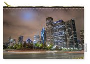 View Of Chicago Skyscrappers With Busy Street In The Foreground Carry-all Pouch