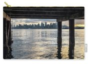 View Of Downtown Seattle At Sunset From Under A Pier Carry-all Pouch