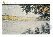 View Of The Seine At Herblay     Carry-all Pouch
