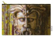 Viking Mask On Old Door Carry-all Pouch