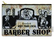 Vintage Barber Sign From The 1950s Carry-all Pouch