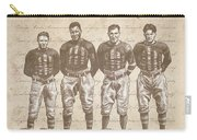 Vintage Football Heroes Carry-all Pouch by Clint Hansen