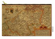 Vintage Map Of Belgium And Flanders Carry-all Pouch