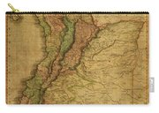 Vintage Map Of Columbia 1818 Carry-all Pouch