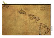 Vintage Map Of Hawaii 1837 Carry-all Pouch