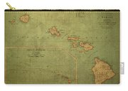 Vintage Map Of Hawaii Carry-all Pouch