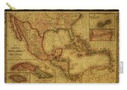 Vintage Map Of Mexico Carry-all Pouch