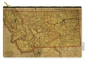 Vintage Map Of Montana Carry-all Pouch
