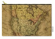 Vintage Map Of North America 1858 Carry-all Pouch
