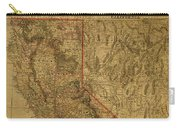 Vintage Map Of Northern California Carry-all Pouch