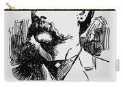 Vintage Newspaper Wyatt Earp Portrait 1896 - T-shirt Carry-all Pouch