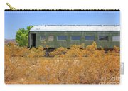Vintage Passenger Train Car In The Desert Carry-all Pouch