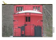 Vintage Red Caboose In Winter Carry-all Pouch