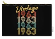 Vintage Retro Since 1963 Birthday Gift Carry-all Pouch