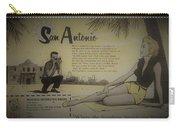 Vintage San Antonio Advertisement Carry-all Pouch