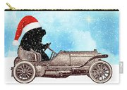 Vintage Santa Newf Holiday Card Carry-all Pouch