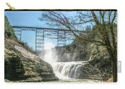 Vintage Train Trestle With Waterfalls Carry-all Pouch
