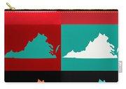 Virginia Pop Art Map Carry-all Pouch