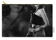 Vision Of Black And White Blues Carry-all Pouch by Dennis Dame