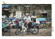Waiting At The Fish Market, Hoi An, Vietnam Carry-all Pouch