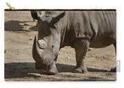 Walking Rhino With One Large Horn And One Small Horn Carry-all Pouch