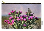 Walking Stick Cactus And Wren Carry-all Pouch