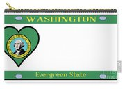 Washington State License Plate Carry-all Pouch