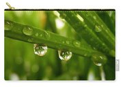Water Drops On Wheat Leafs Carry-all Pouch