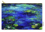 Water Lilies Story Impressionistic Impasto Palette Knife Oil Painting Mona Edulesco Carry-all Pouch