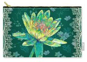 Water Lily And Lace Carry-all Pouch
